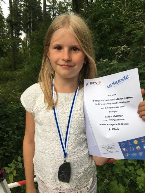 Silbermedaille bei Bayerischer Meisterschaft für Luise Döhler